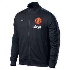Nike Manchester United 2013 Authentic N98 Training Soccer Jacket (Black/ Midnight Navy)