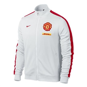 Nike Manchester United 2013 Authentic N98 Training Soccer Jacket (White/Red)