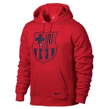 Nike Club FC Barcelona Core Soccer Hoodie (University Red/Midnight Navy)