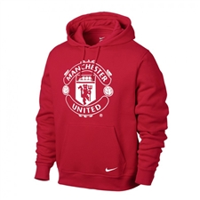 Nike Club Manchester United Core Soccer Hoodie (Diablo Red/White)