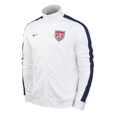 Nike USA Authentic N98 2013 Training Soccer Jacket (White/Navy)