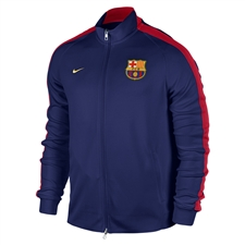 Nike FC Barcelona 2014 Authentic N98 Training Soccer Jacket (Loyal Blue/Noble Red/Sunlight)