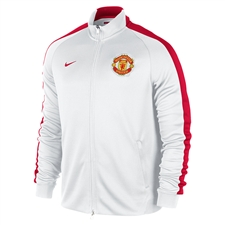 Nike Manchester United 2014 Authentic N98 Training Soccer Jacket (White/Diablo Red)