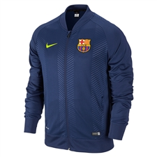 Nike FC Barcelona Squad Pre-Match Sideline Jacket (Loyal Blue/Volt)