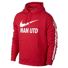 Nike Manchester United Club Core Soccer Hoodie (Diablo Red/White)