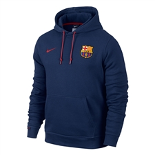 Nike FC Barcelona Core Soccer Hoodie (Loyal Blue/Storm Red)