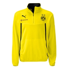 Puma Borussia Dortmund 1/2 Zip Fleece Training Jacket (Yellow/Black)
