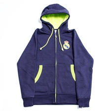 Real Madrid 2013 Full Zip Soccer Hoodie (Navy/Lime)
