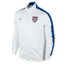 Nike USA Youth N98 Authentic Track Jacket (White/Game Royal)