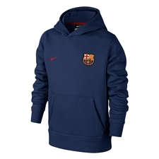 Nike FC Barcelona Youth Core Soccer Hoodie (Loyal Blue/Storm Red)