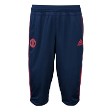 Adidas Men's Manchester United 2015 3/4 Training Pant (Dark Blue/Scarlett)