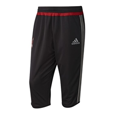 Adidas Men's AC Milan 2015 3/4 Training Pant (Black/Charcoal Solid Grey/Victory Red)