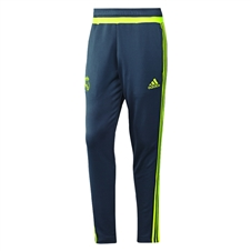 Adidas Men's Real Madrid Training Pant (Deepest Space/Solar Yellow)