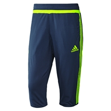 Adidas Men's Real Madrid 3/4 Training Pant (Deepest Space/Solar Yellow)