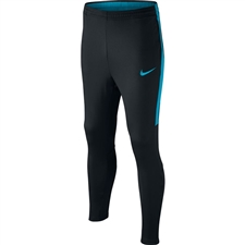 Nike Youth Dry Academy Soccer Pants (Black/Light Blue Fury)