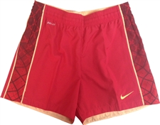 Nike Women's E4 Woven Soccer Shorts (Hyper Red/Team Red/Melon Tint)