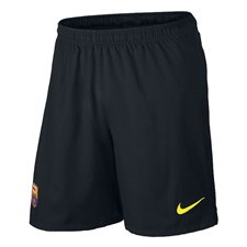 Nike FC Barcelona Third '13-'14 Replica Soccer Shorts (Black/Vibrant Yellow)