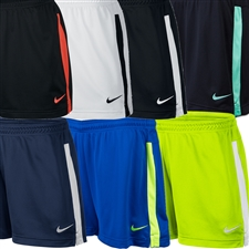 Nike Women's Academy Knit Soccer Shorts (White/Black)
