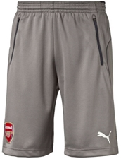 Puma Arsenal '16-'17 Training Soccer Shorts (Steel Gray/Ebony)