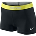 "Nike PRO 2.5"" Women's Soccer Shorts II (Black/Electric Yellow/Strata Grey)"