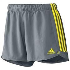Adidas Women's Speed Kick Shorts (Grey Vivid Yellow)