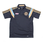 Adidas MLS Philadelphia Union 2014 On Field Player Polo (Navy)