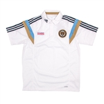 Adidas MLS Philadelphia Union 2014 On Field Player Polo (White)