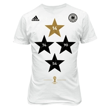 Adidas Germany Winners Tee Shirt 2014 (White)