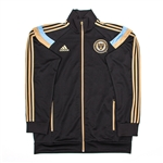 Adidas MLS Philadelphia Union 2014 On Field Anthem Jacket (Black/Gold)