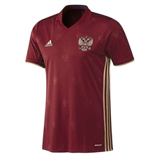 Adidas Russia 2015-16 Home Soccer Jersey (Burgundy/Dark Football Gold)