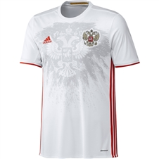 Adidas Russia 2016 Away Replica Soccer Jersey (White/Red)