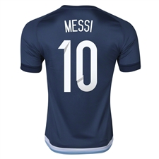 Adidas 'MESSI 10' Argentina Away 2015 Replica Soccer Jersey (Night Marine/White)