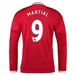 Adidas Manchester United 'MARTIAL 9' Home '15-'16 Long Sleeve Soccer Jersey (Real Red/White/Black)