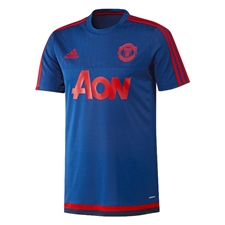 Adidas Manchester United Training Jersey (Royal/Scarlet/Dark Blue)