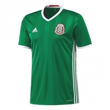 Adidas Mexico Home 2016 Replica Soccer Jersey (Green/Red/White)
