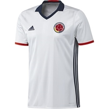 Adidas Colombia Home 2016 Soccer Jersey (White/Collegiate Navy/Red)