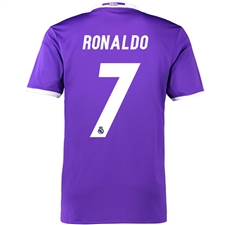 Adidas Real Madrid 'RONALDO 7' Away '16-'17 Soccer Jersey (Purple/White)