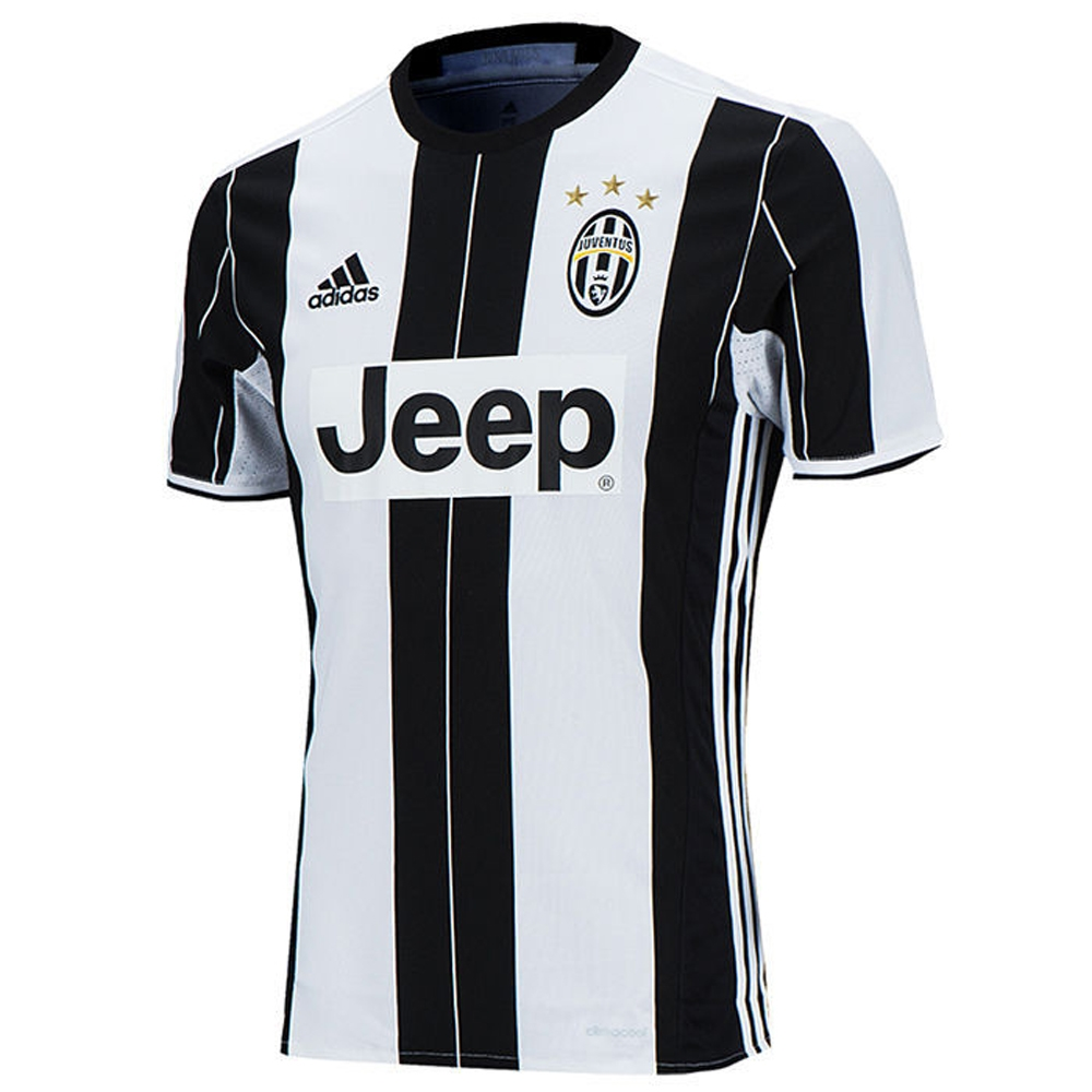 Outlet New Jersey >> Adidas Juventus '16-'17 Home Soccer Jersey (White/Black) | Juventus Soccer Jersey | AI6241 ...