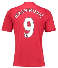 "Adidas Manchester United ""IBRAHIMOVIC 9"" Home '16-'17 Soccer Jersey"