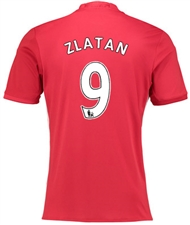"Adidas Manchester United ""ZLATAN 9"" Home '16-'17 Soccer Jersey"