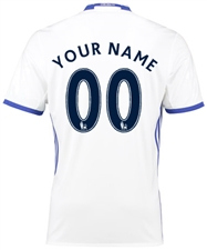 "Adidas Chelsea ""CUSTOM"" Third '16-'17 Replica Soccer Jersey (White/Chelsea Blue)"