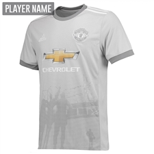 Adidas Manchester United Third '17-'18 Soccer Jersey (Solid Grey/White/Grey)