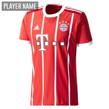 Adidas Bayern Munich Home Authentic '17-'18 Soccer Jersey (Red/White)
