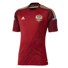 Adidas Russia 2014 Home Replica Soccer Jersey (Cardinal/Light Maroon/Light Football Gold)