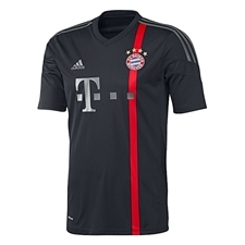 Adidas Bayern Munich Third '14-'15 Replica Soccer Jersey (Black/Red/Iron Grey/Dark Grey)