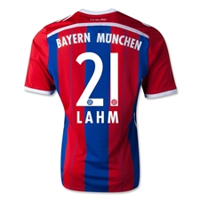 Adidas Bayern Munich 'LAHM 21' Home '14-'15 Replica Soccer Jersey (FCB True Red/Collegiate Royal/White)