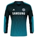 Adidas Chelsea Third '14-'15 Long Sleeve Replica Soccer Jersey (Dark Marine/Intense Blue/White)