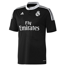 Adidas Real Madrid Third'14-'15 Replica Soccer Jersey (Black/White)