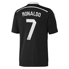Adidas Real Madrid 'RONALDO 7' Third'14-'15 Replica Soccer Jersey (Black/White)