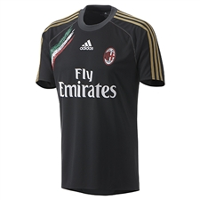 Adidas AC Milan 2013-2014 Soccer Training Jersey (Black/Red/Green/Gold)